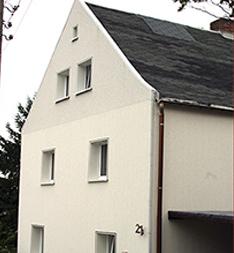Vorgehängte Fassade nach Reinigung